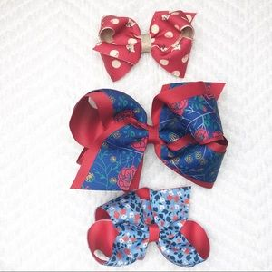 Matilda Jane Girls Hair Bows set of 3
